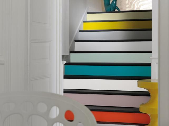 sélection escaliers colorés par MH DECO