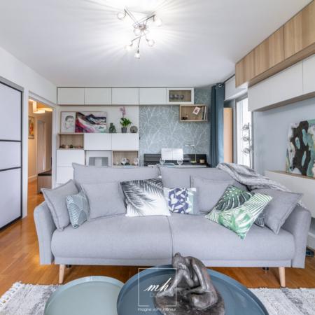 Aménagement intérieur d'un appartement à Bagneux par MH DECO