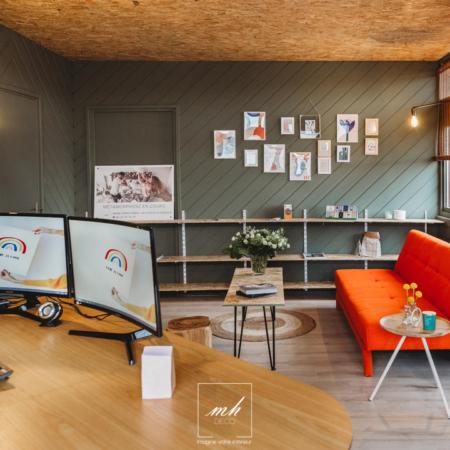 Aménagement d'un bureau par MH DECO Eu - Le Tréport