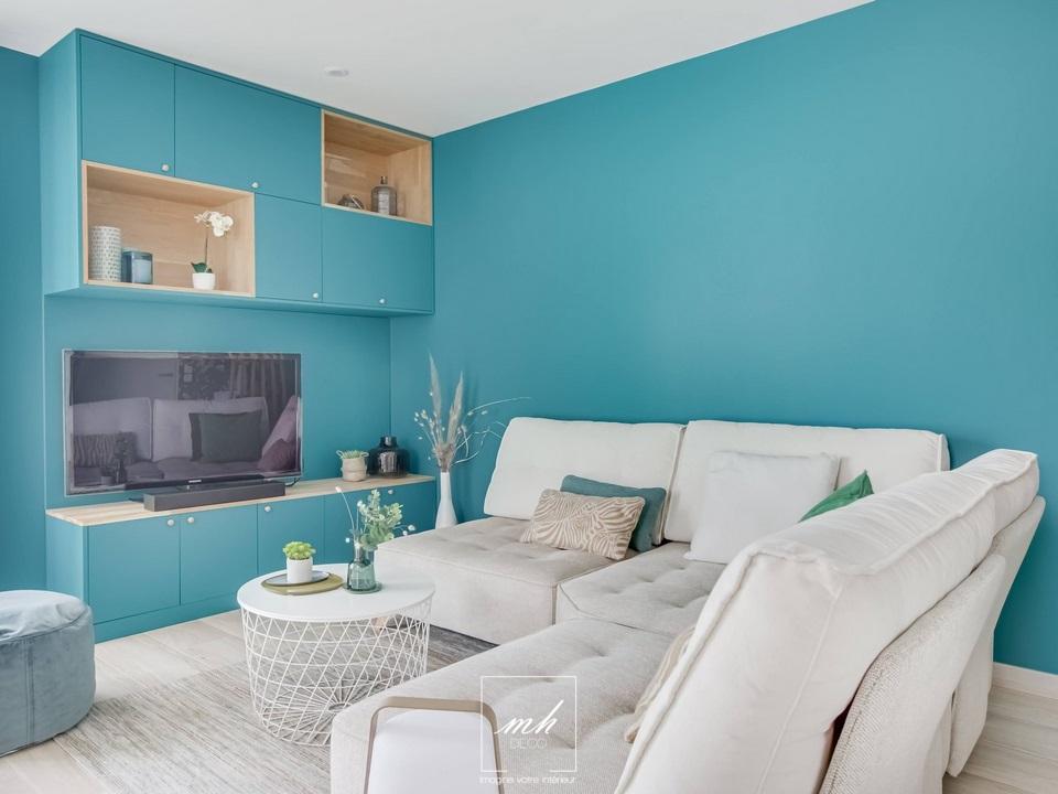 Design intérieur d'un appartement en VEFA à Mérignac par MH DECO