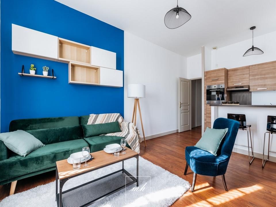 Aménagement d'un appartement destiné à la location à Lyon Croix-Rousse par MH DECO