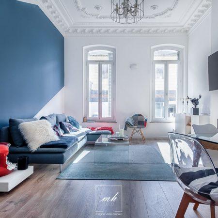 Relooking d'un appartement vieillot à Marseille par MH DECO