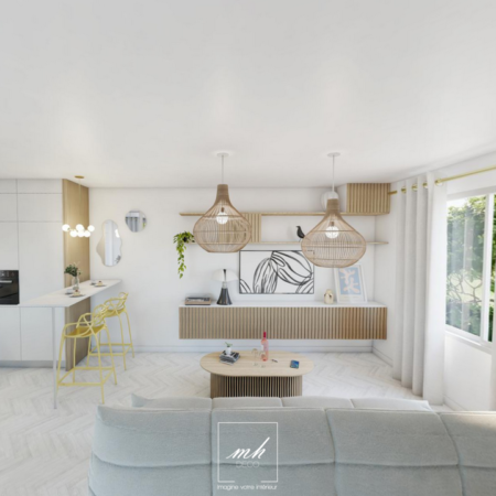 Aménagement contemporain d'un appartement à Paris Bastille par MH DECO
