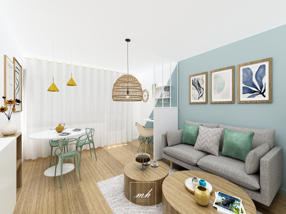 Un intérieur scandinave à Ménilmontant par MH DECO Paris