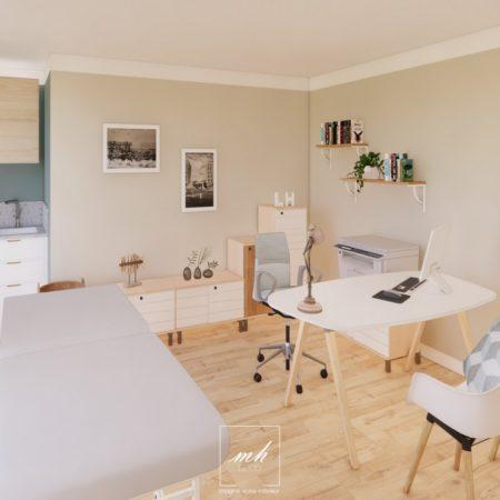 Aménagement d'un cabinet de rhumatologie à Saint-Maximin-la-Sainte-Baume par MH DECO