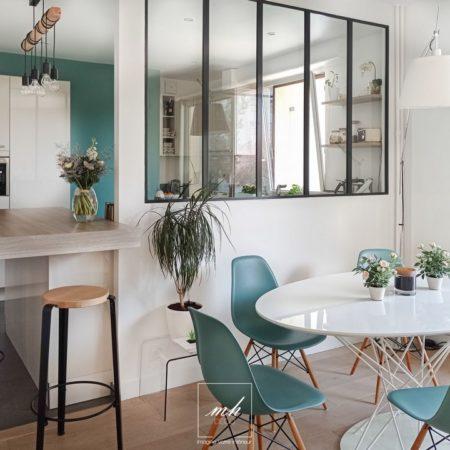 Rénovation et décoration d'une cuisine dans un appartement de Montrouge par MH DECO